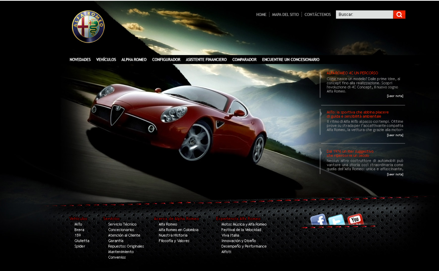 car dealer alpha web design the jampe SEO social media facebook