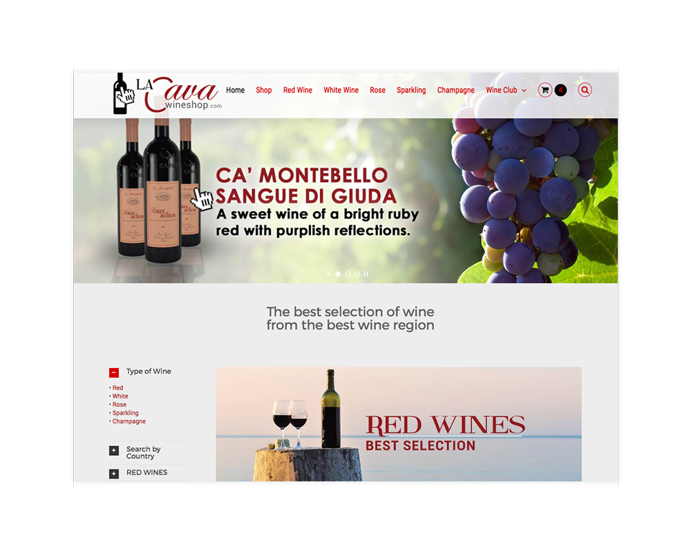 Online Wine Store e-commerce